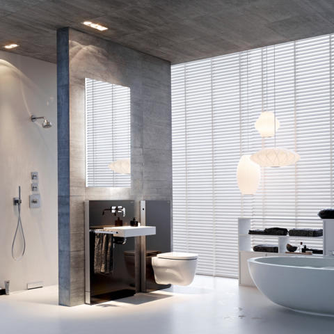 Geberit bath 26 monolith washbasin wc wall hung