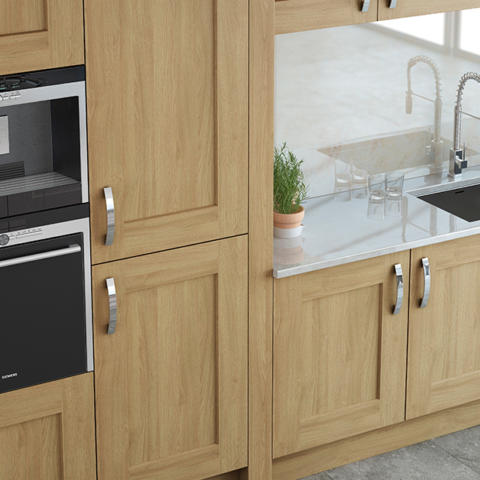 Modern contemporary classic clonmel oak painted stone cabinets
