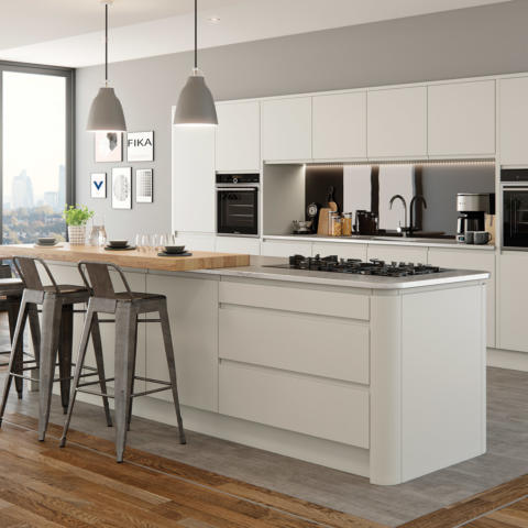 Strada matte painted porcelain kitchen hero A